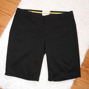 Anthropologie Elevenses Black Bermuda Shorts Sz 8